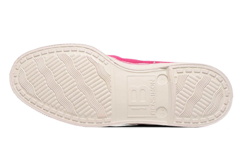 Sneaker Bensimon Tennis Mid E rosa ansicht von oben