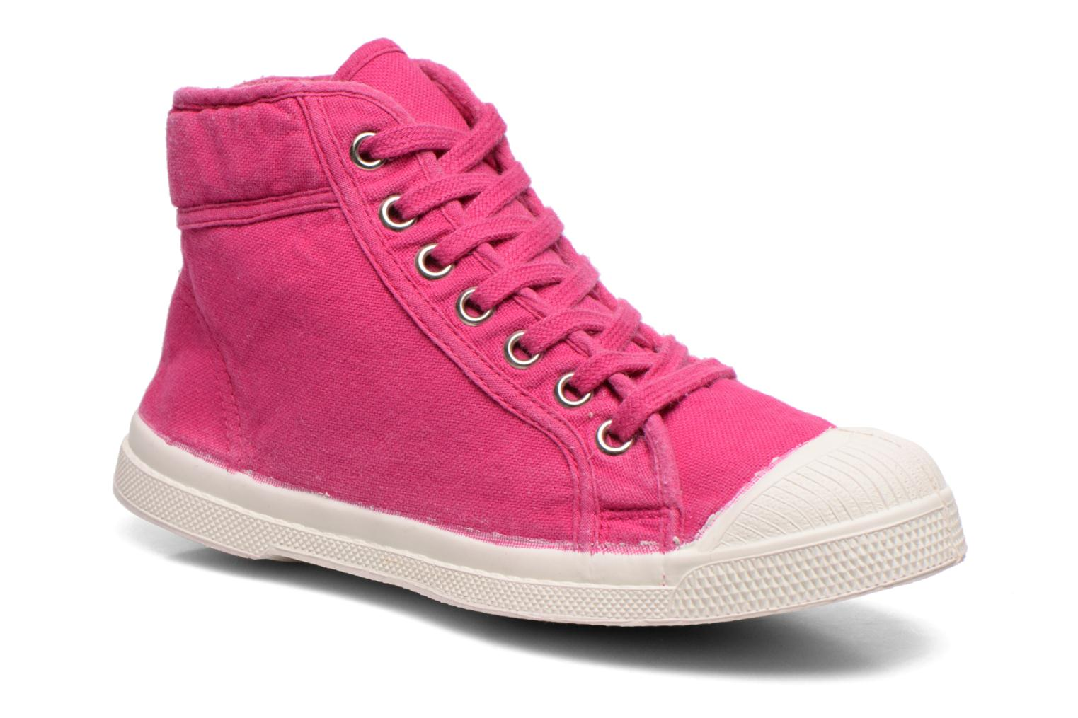 Baskets Bensimon Tennis Mid E Rose vue détail/paire
