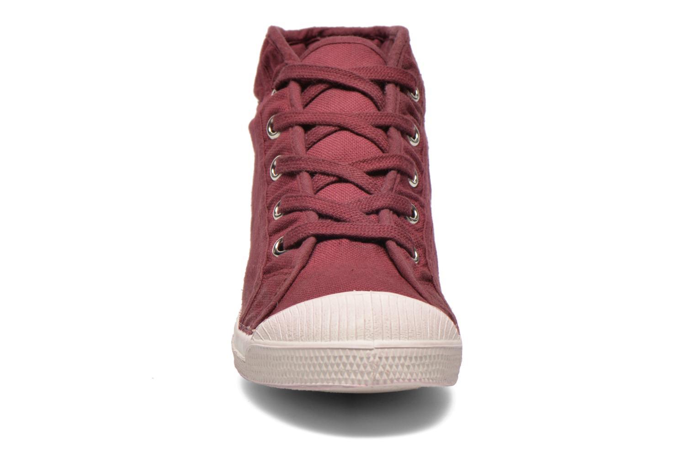 Baskets Bensimon Tennis Mid E Bordeaux vue portées chaussures
