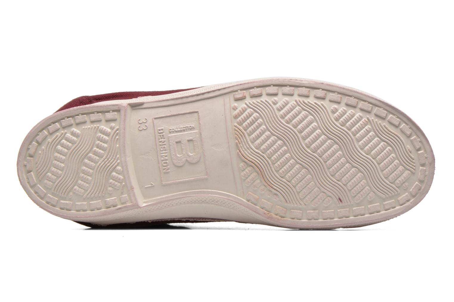 Trainers Bensimon Tennis Mid E Burgundy view from above