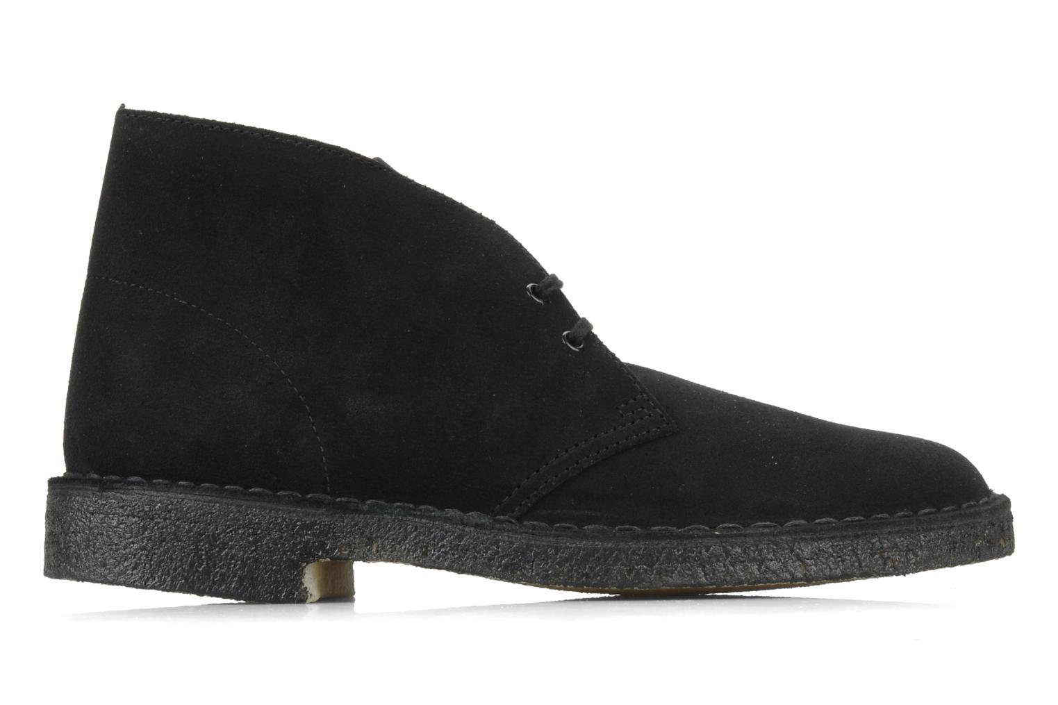 Lace-up shoes Clarks Desert Boot M Black back view