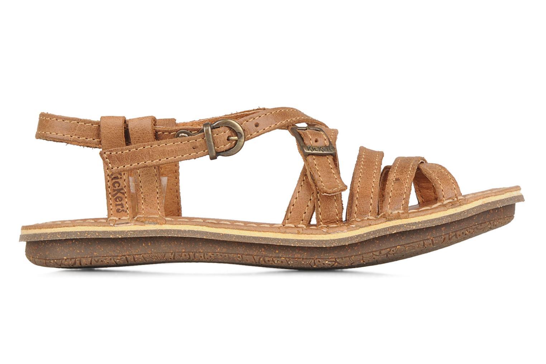 Sandales et nu-pieds Kickers Pinuts Marron vue derrière