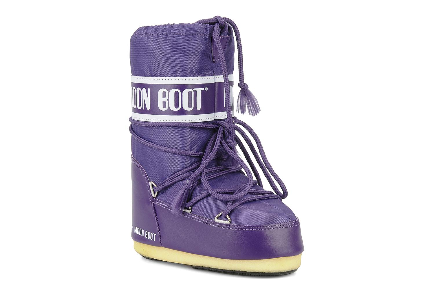 Sport shoes Moon Boot Moon Boot Nylon E Purple detailed view/ Pair view