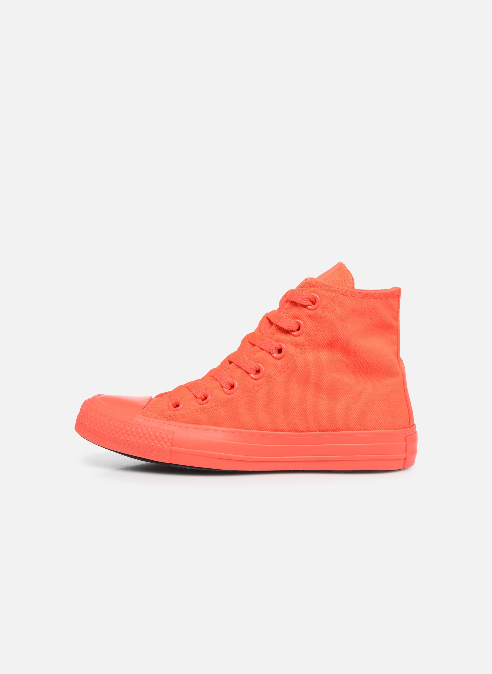 Trainers Converse Chuck Taylor All Star Monochrome Canvas Hi W Red front view