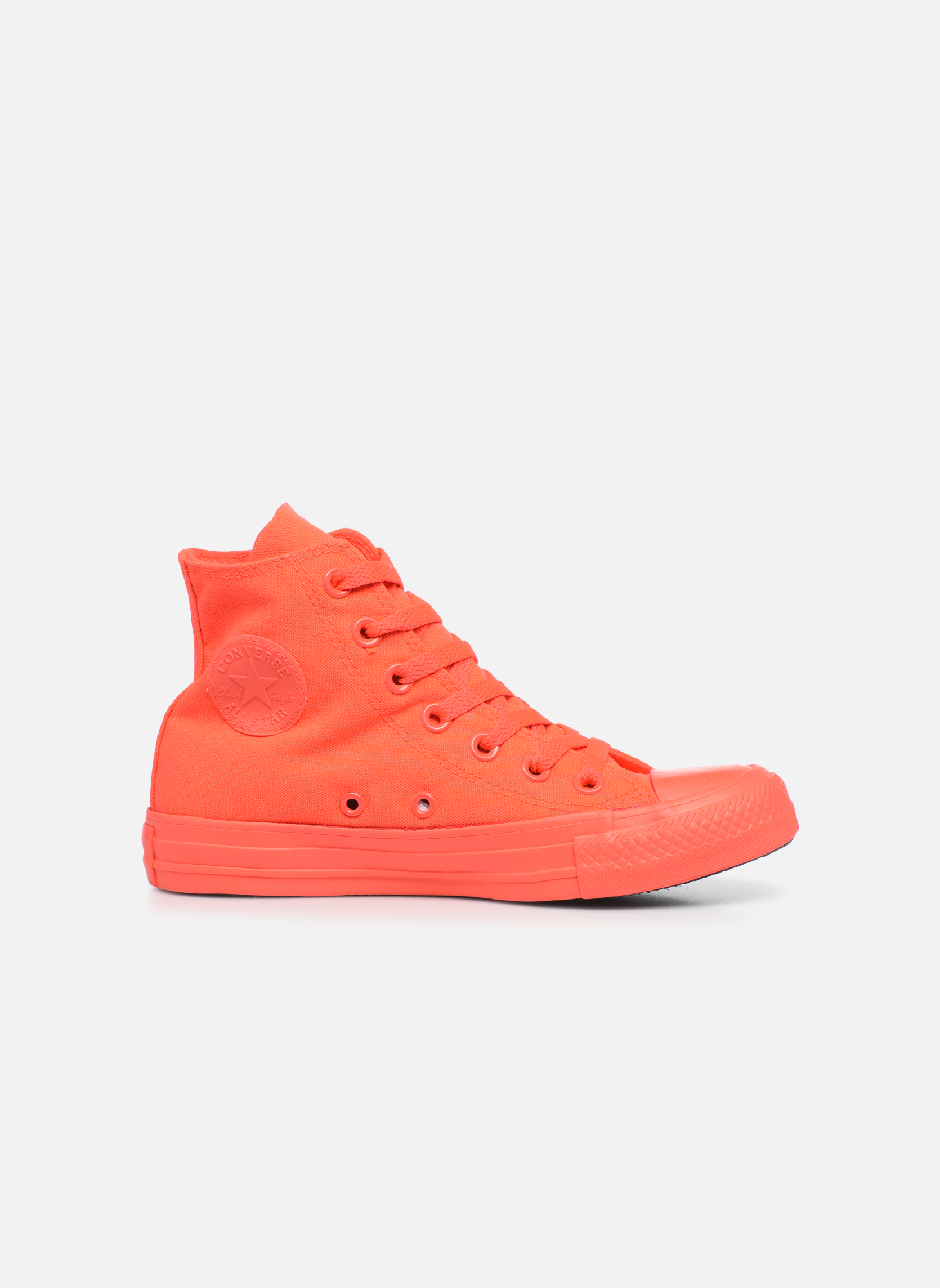 Trainers Converse Chuck Taylor All Star Monochrome Canvas Hi W Red back view