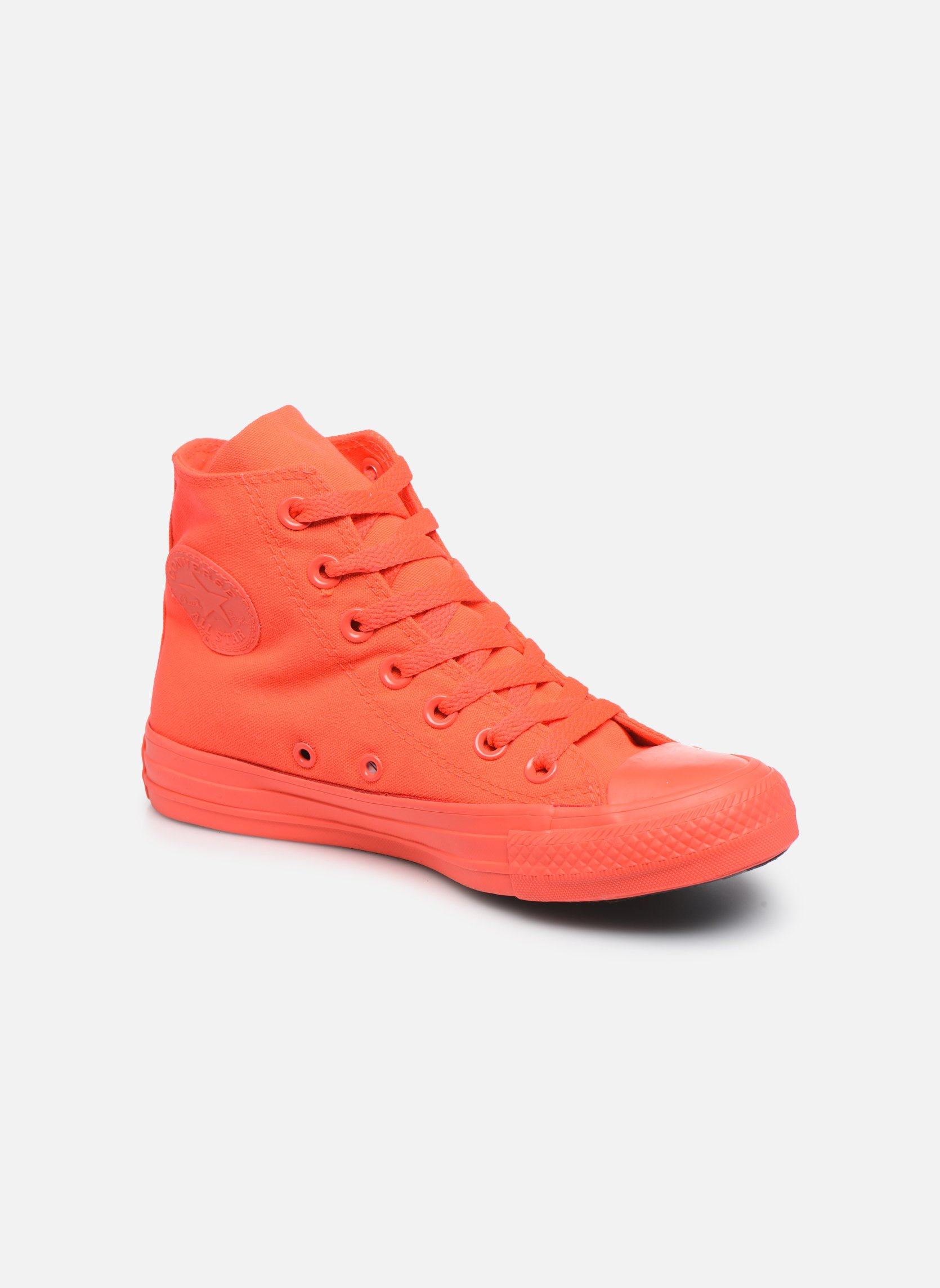 Trainers Converse Chuck Taylor All Star Monochrome Canvas Hi W Red detailed view/ Pair view