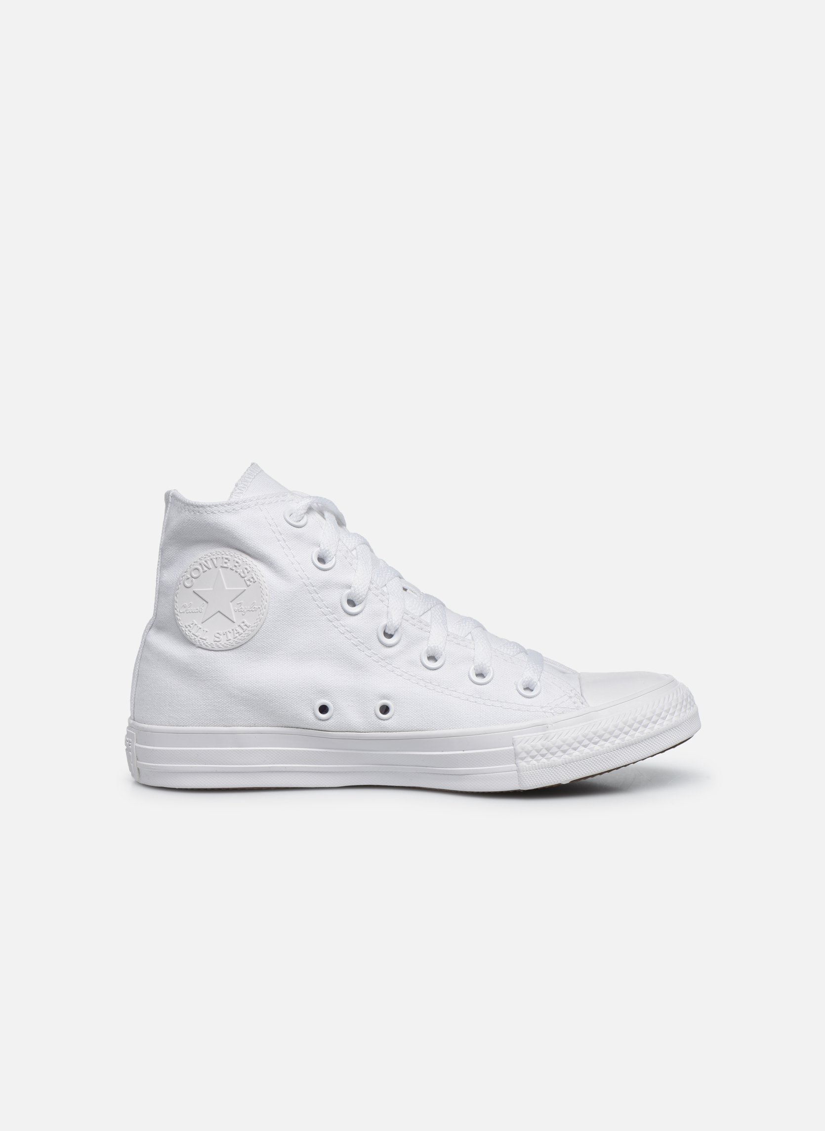 Baskets Converse Chuck Taylor All Star Monochrome Canvas Hi W Blanc vue derrière