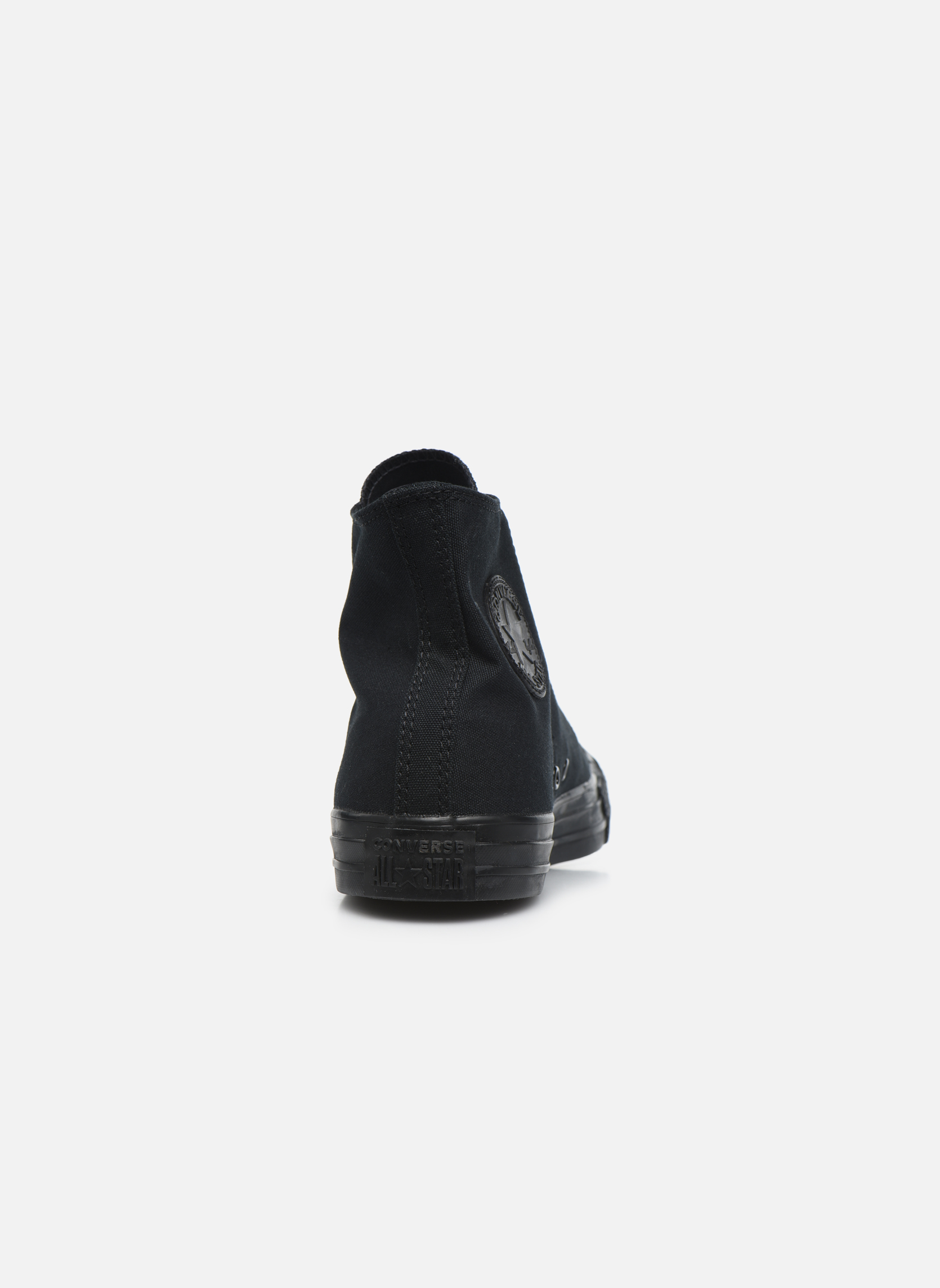 Trainers Converse Chuck Taylor All Star Monochrome Canvas Hi M Black view from the right