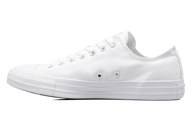Sneaker Converse Chuck Taylor All Star Monochrome Canvas Ox M weiß ansicht von vorne