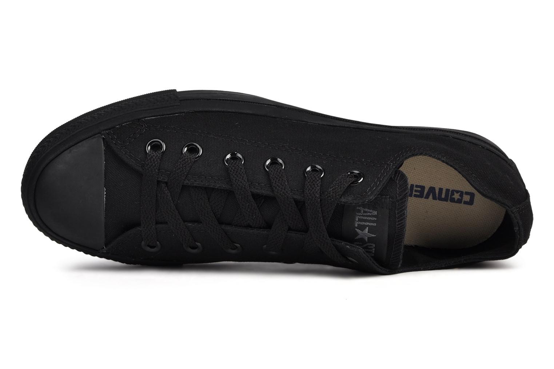 Sneakers Converse Chuck Taylor All Star Monochrome Canvas Ox M Zwart links