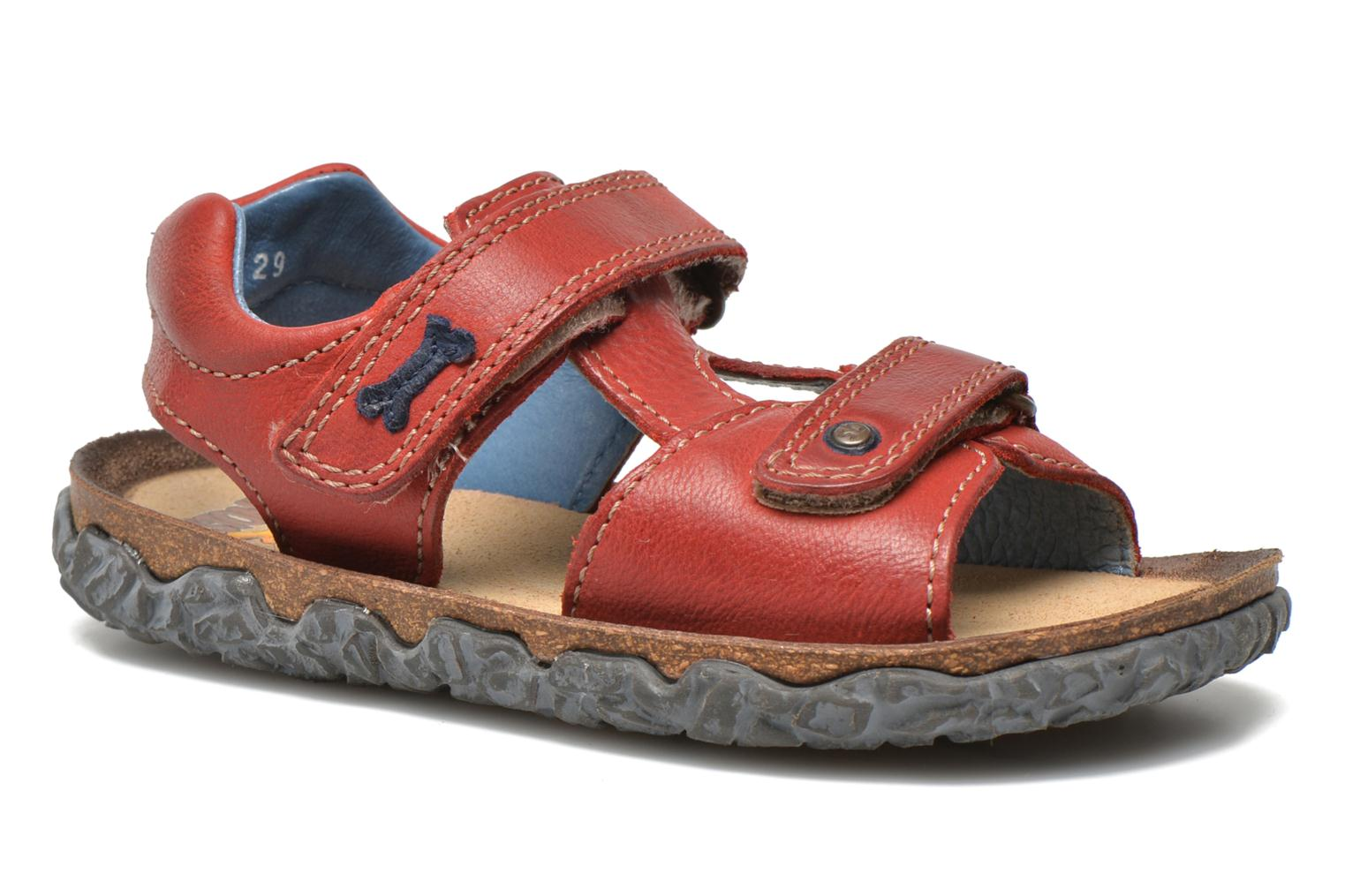 Sandals Stones and Bones Ranco Burgundy detailed view/ Pair view