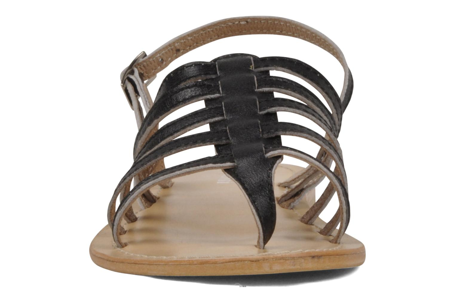 Sandals Valensi Spinata Bronze and Gold view from underneath / model view