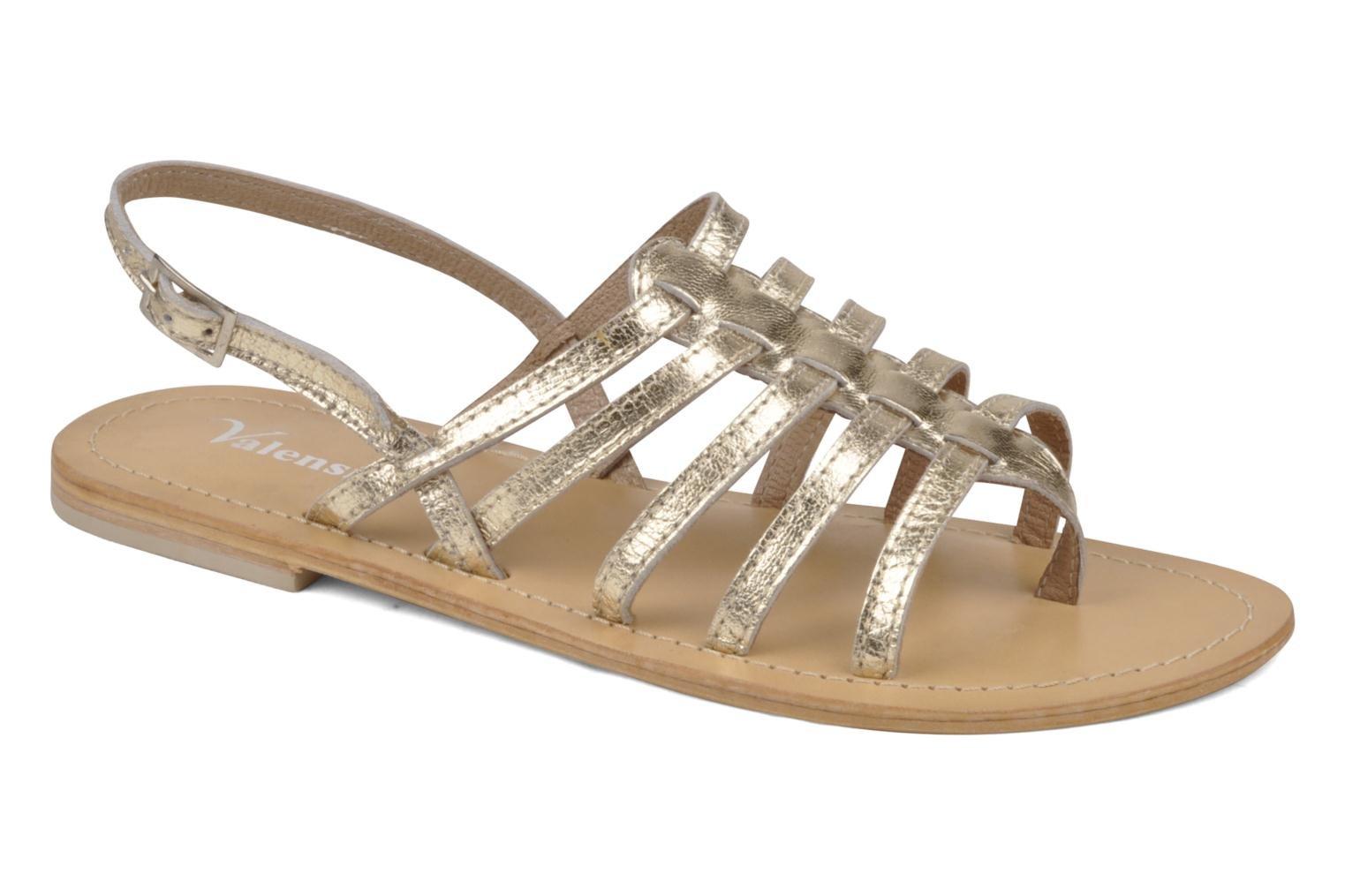 Sandals Valensi Spinata Bronze and Gold detailed view/ Pair view