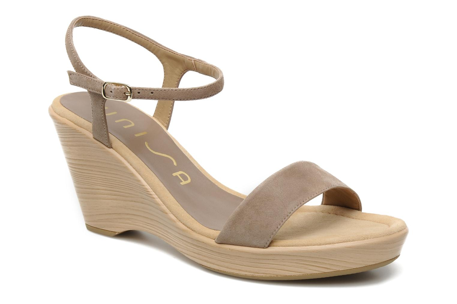 Sandals Unisa Rita Beige detailed view/ Pair view