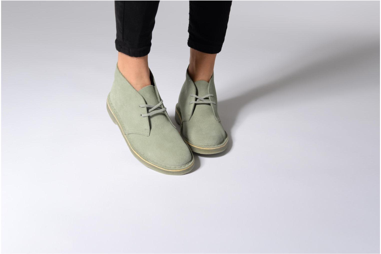 Chaussures à lacets Clarks Desert Boot W Vert vue bas / vue portée sac