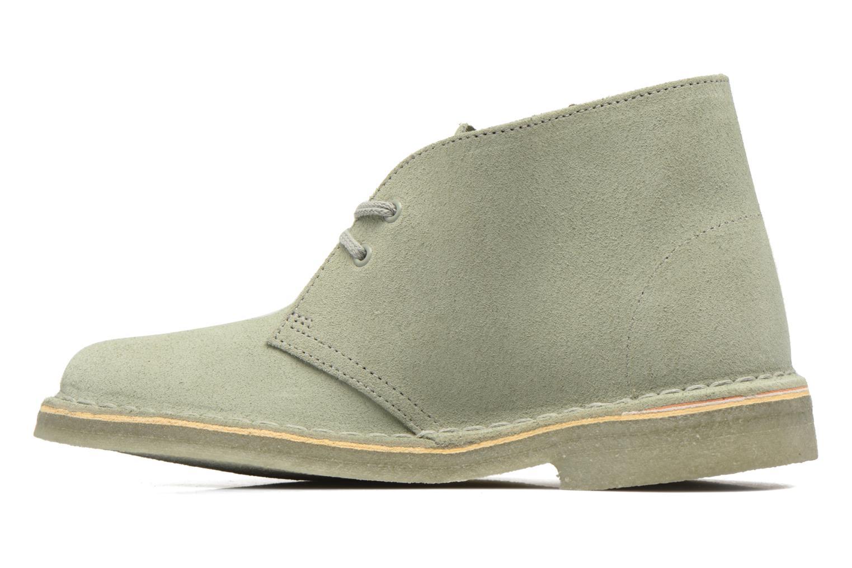 Chaussures à lacets Clarks Desert Boot W Vert vue face
