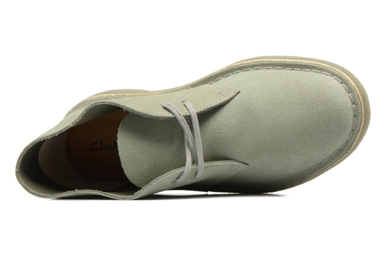 Chaussures à lacets Clarks Desert Boot W Vert vue gauche