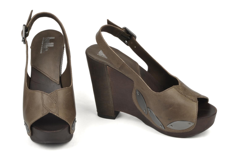 Sandales et nu-pieds Belle Melania Marron vue bas / vue portée sac