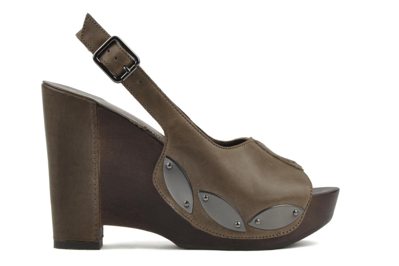Sandales et nu-pieds Belle Melania Marron vue derrière