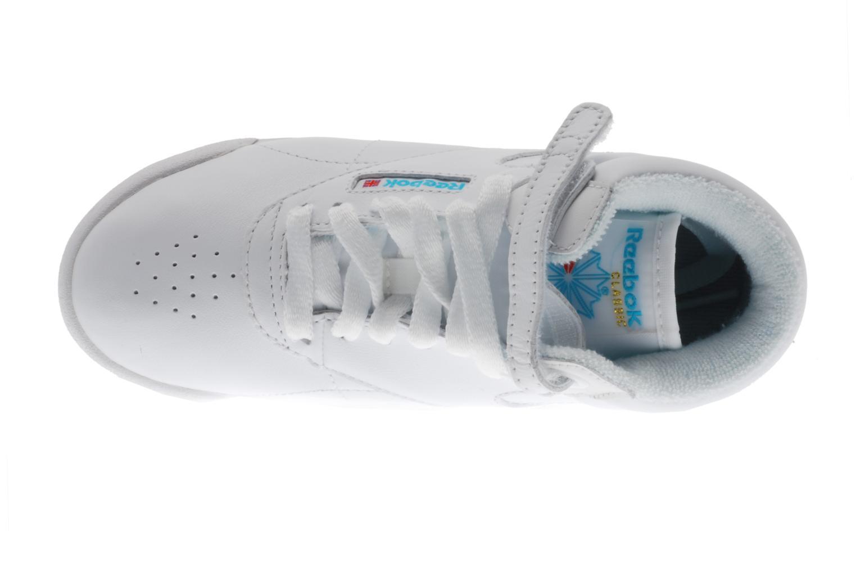 Baskets Reebok Freestyle Hi Blanc vue gauche