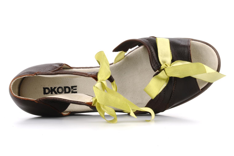 Sandales et nu-pieds Dkode Jeospi Marron vue gauche