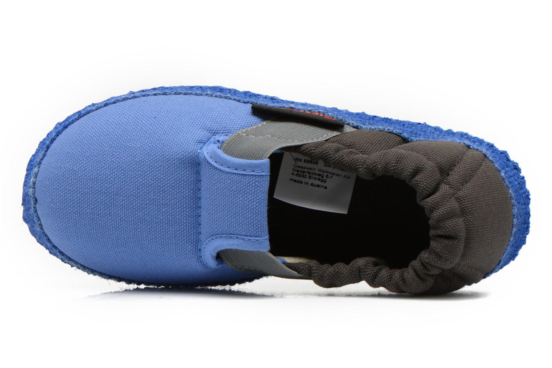 Hausschuhe Giesswein Aichach blau ansicht von links