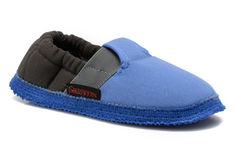 Pantoffels Giesswein Aichach Blauw detail
