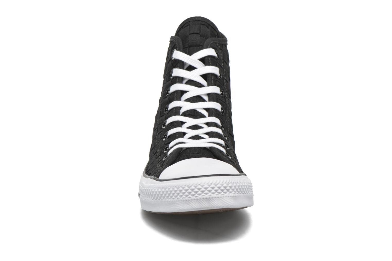 Sneaker Converse Chuck Taylor All Star Hi M schwarz schuhe getragen