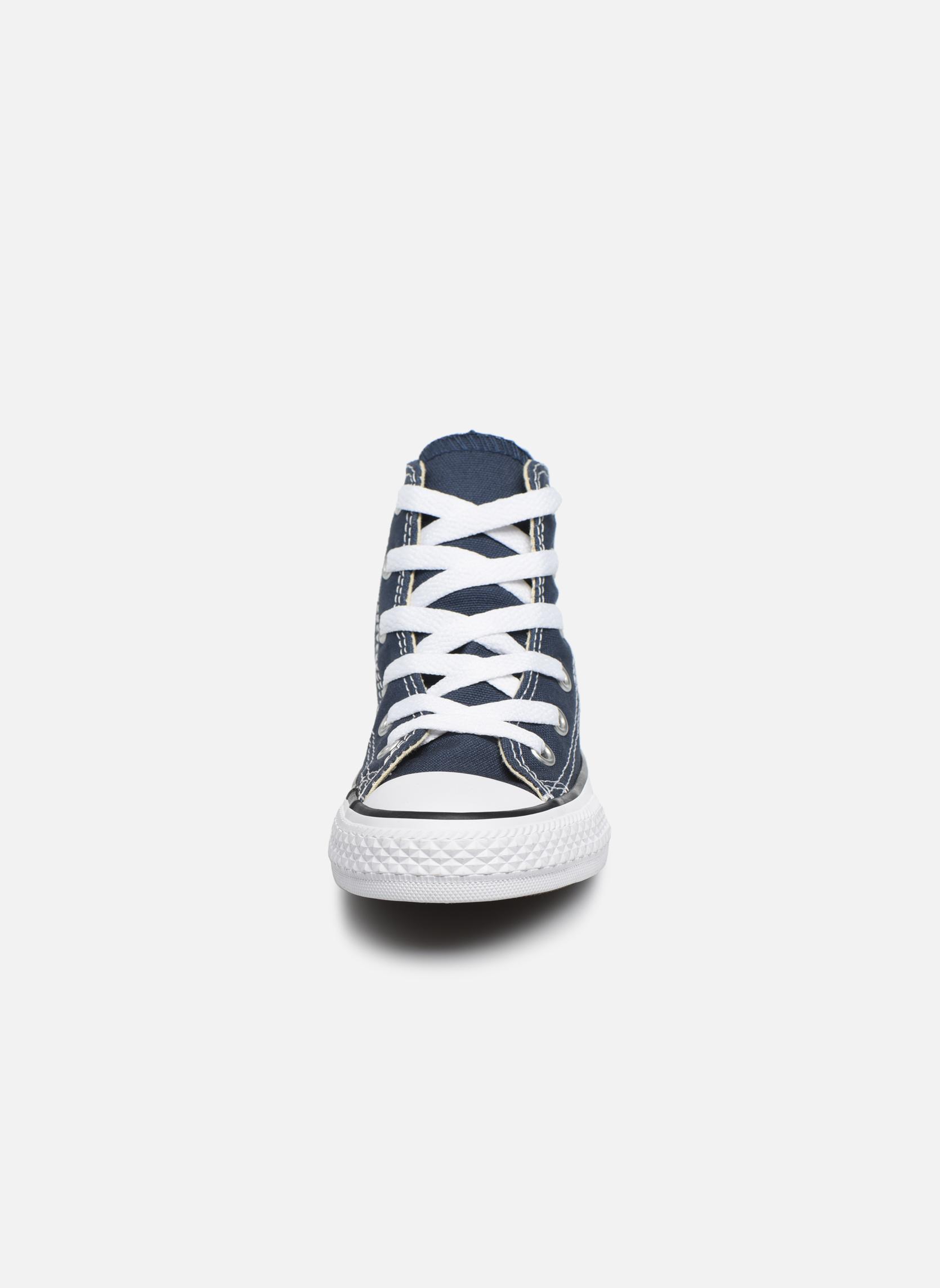 Baskets Converse Chuck Taylor All Star Core Hi Bleu vue portées chaussures