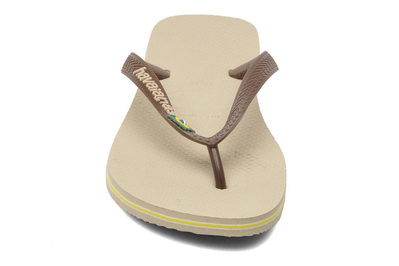 Tongs Havaianas Brazil Logo H Marron vue portées chaussures