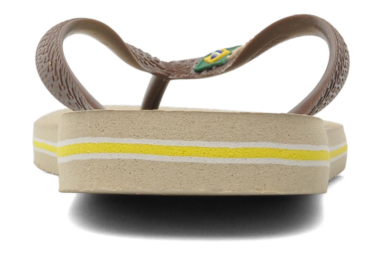 Tongs Havaianas Brazil Logo H Marron vue droite