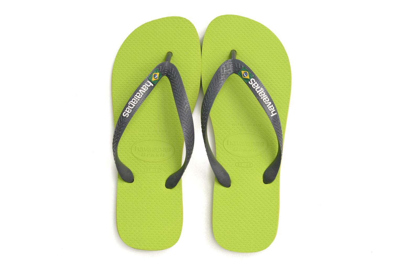 Flip flops & klipklapper Havaianas Brazil Logo H Grøn 3/4 billede