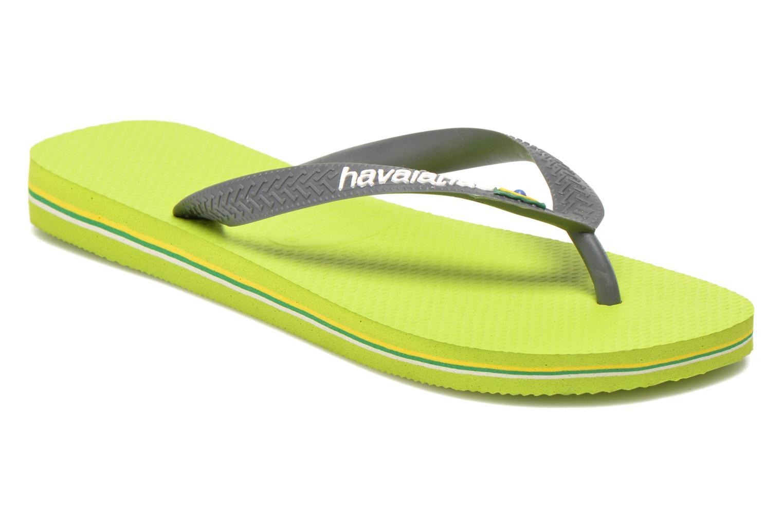 Flip flops & klipklapper Havaianas Brazil Logo H Grøn detaljeret billede af skoene