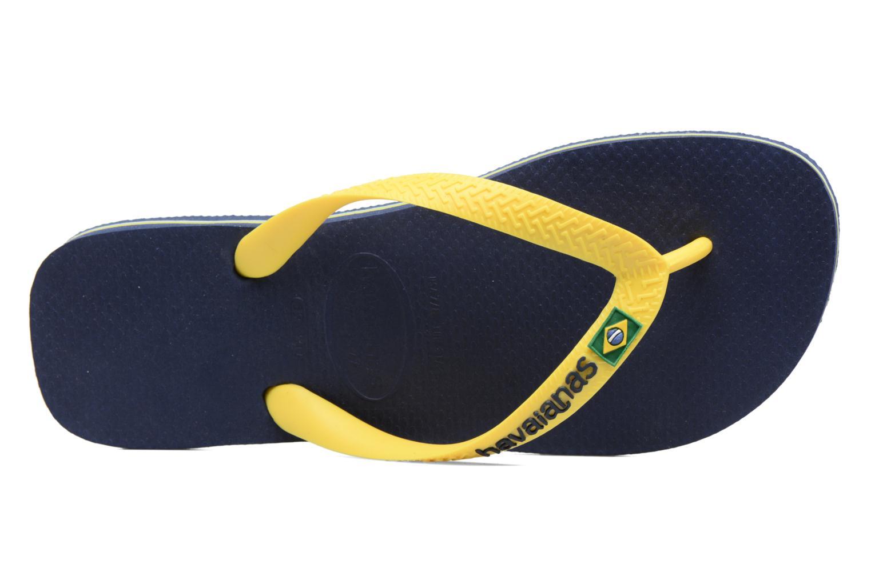 Slippers Havaianas Brazil Logo H Blauw links