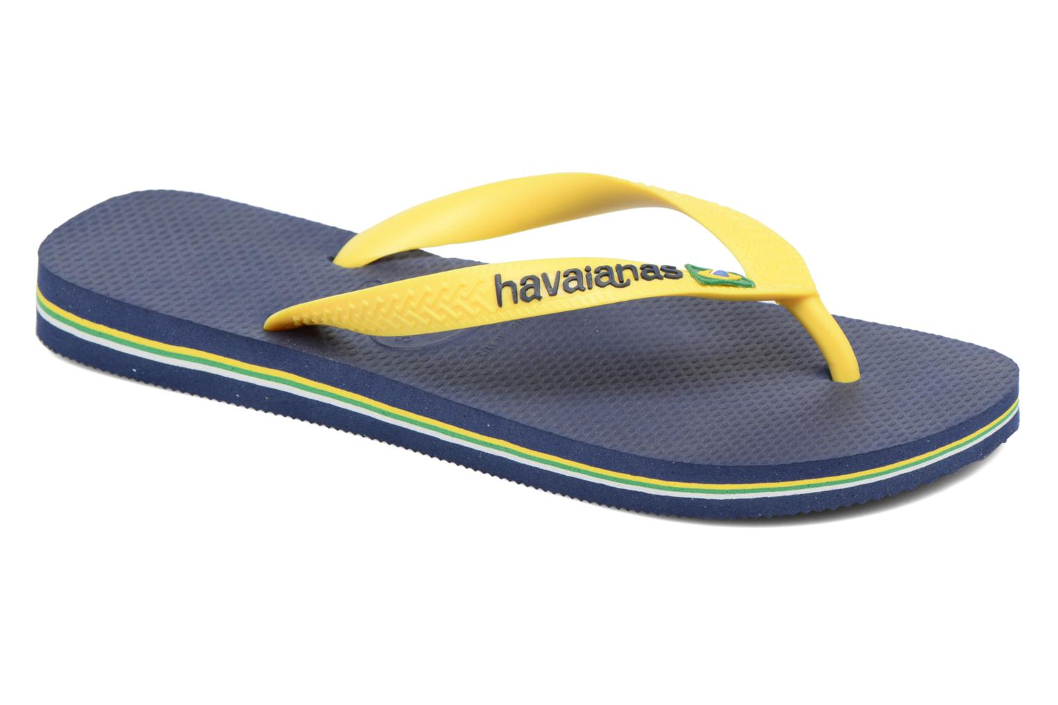 Brazil Logo H Navy Blue/citrus yellow