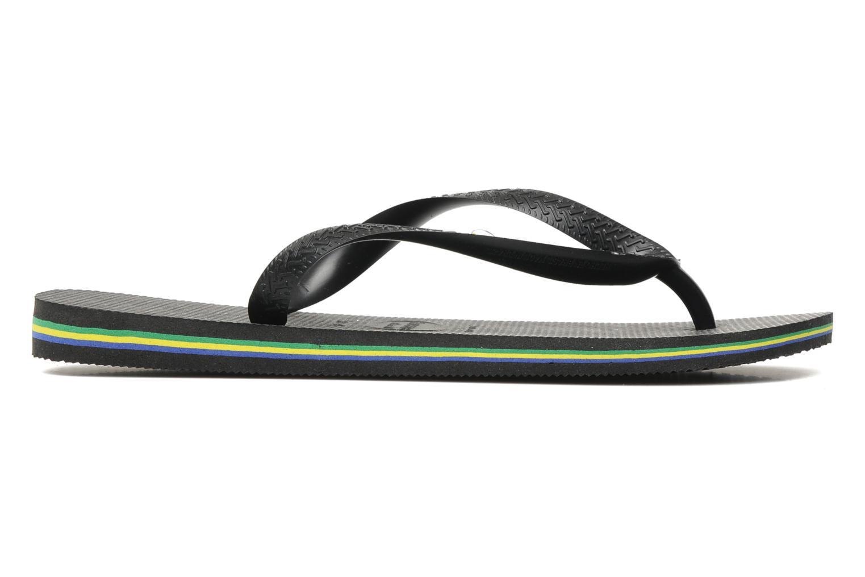 Slippers Havaianas Brazil Logo H Zwart achterkant