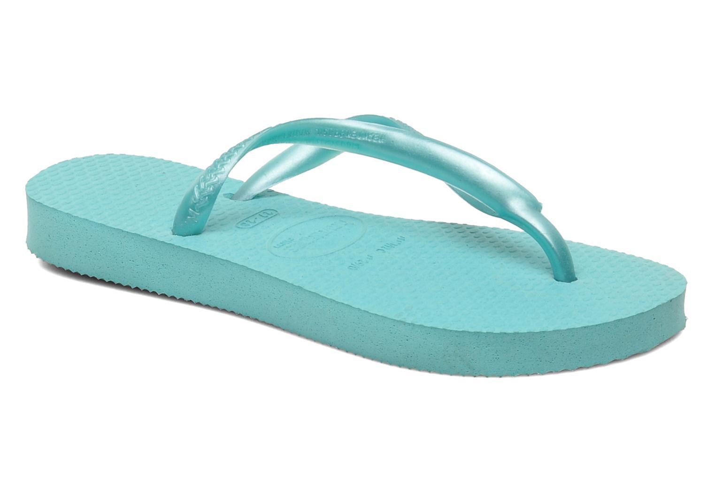 Slippers Havaianas Kids Slim Blauw detail