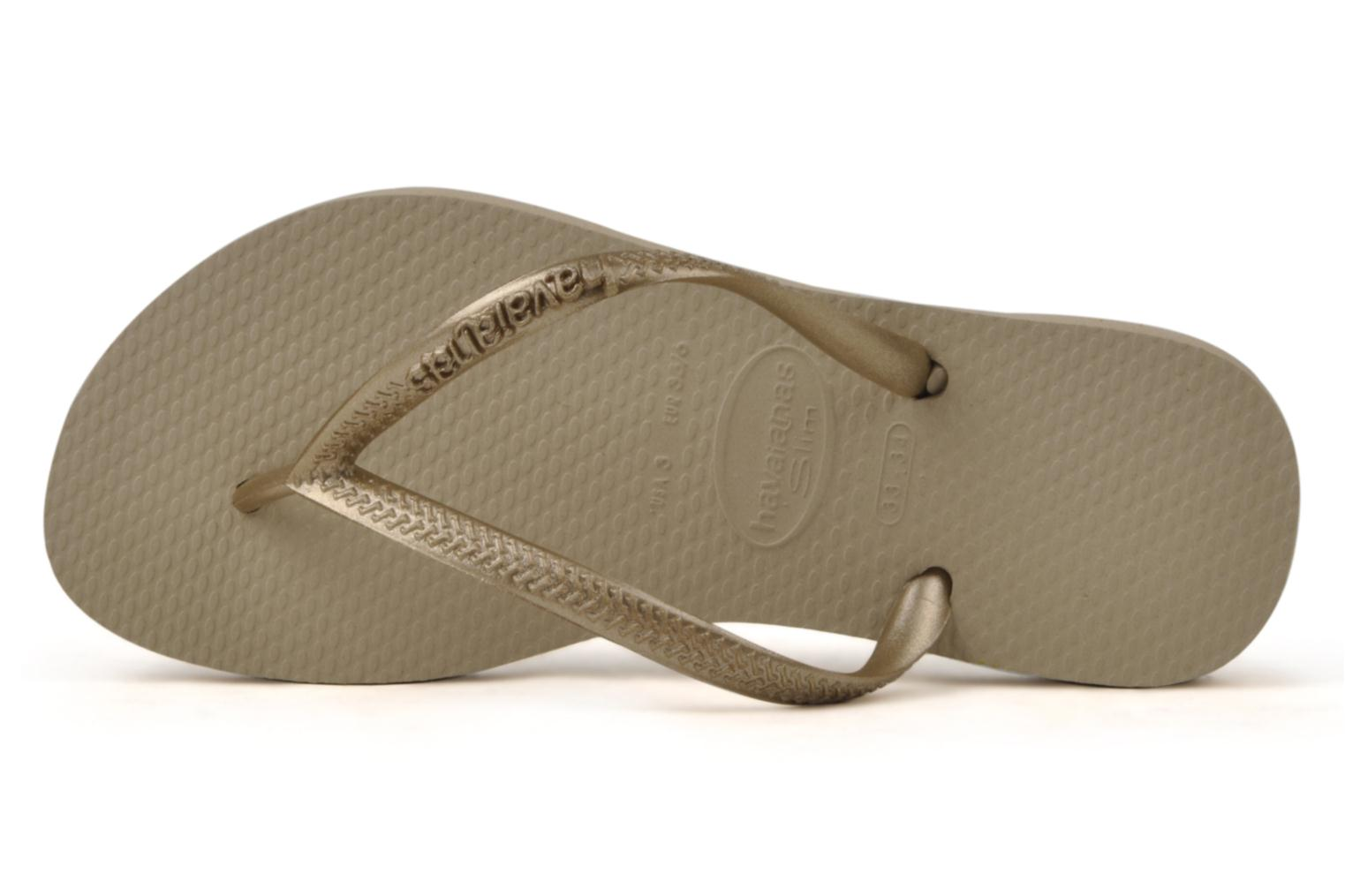 Tongs Havaianas Kids Slim Or et bronze vue gauche