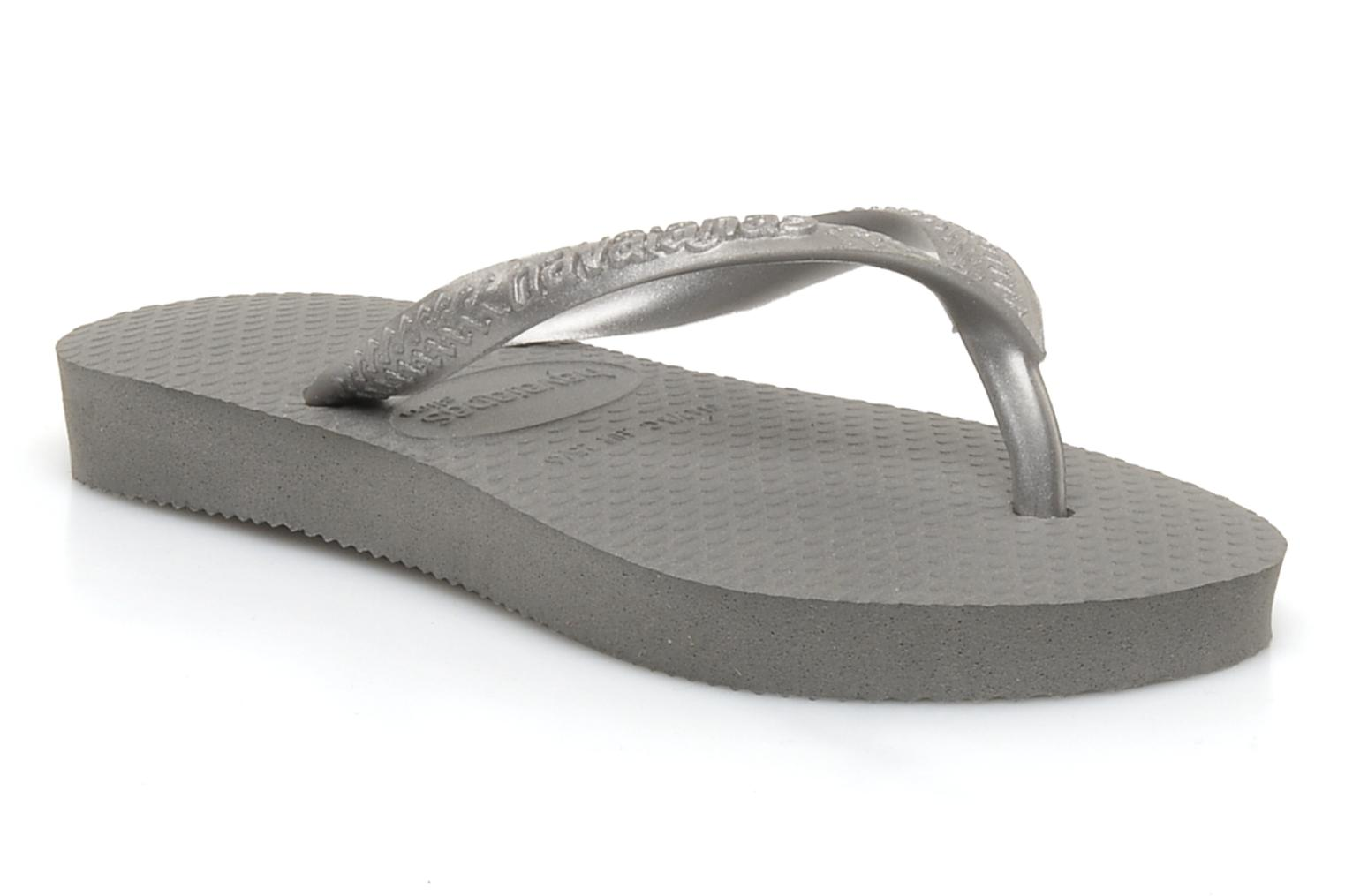 Flip flops Havaianas Kids Slim Grey detailed view/ Pair view