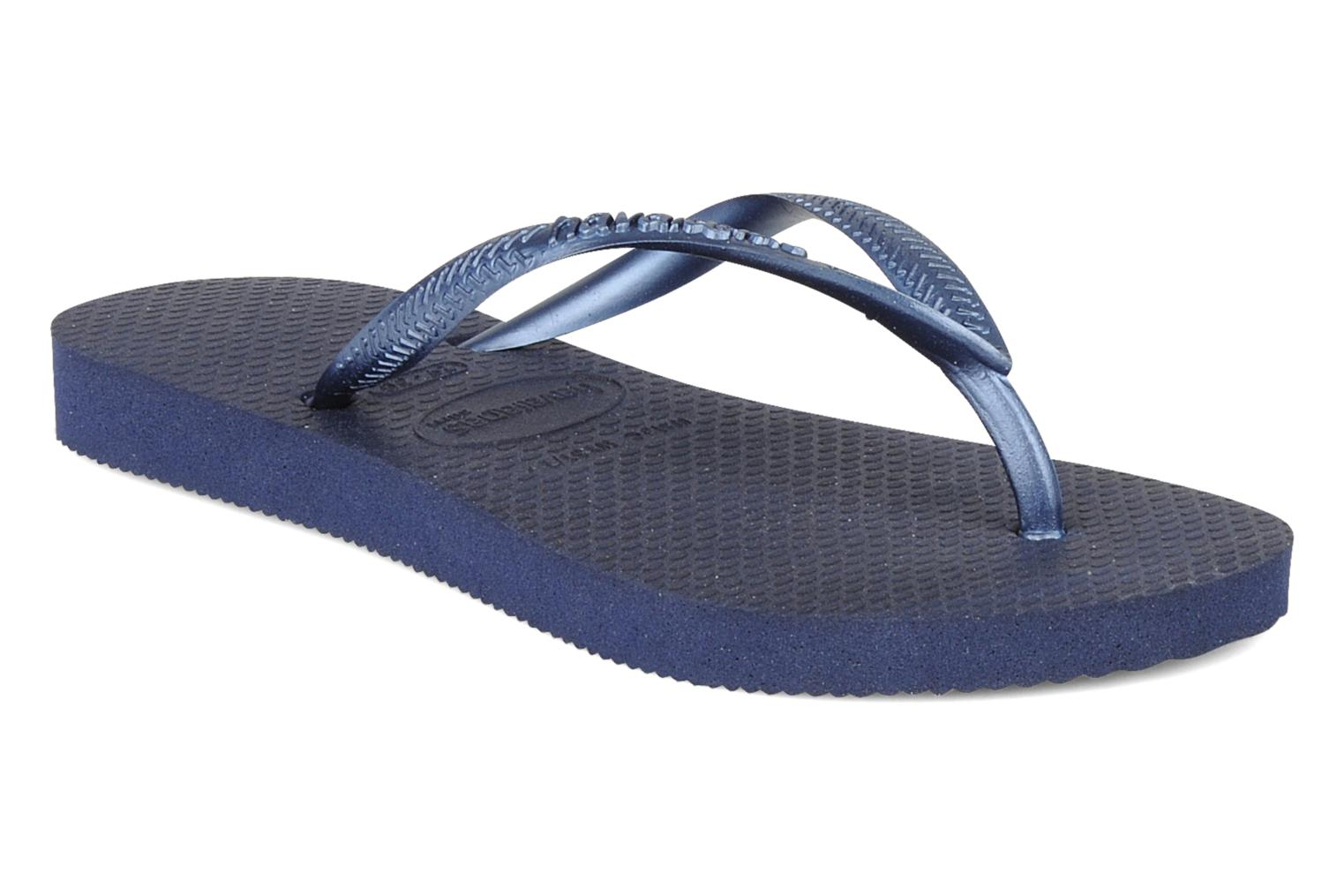 Flip flops Havaianas Kids Slim Blue detailed view/ Pair view