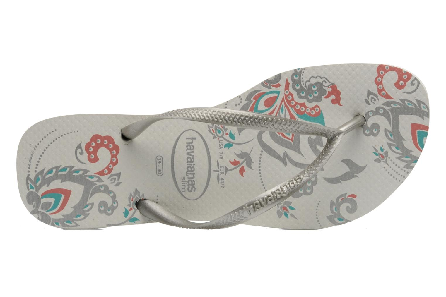 Flip flops Havaianas Slim Season Femme Silver view from the left
