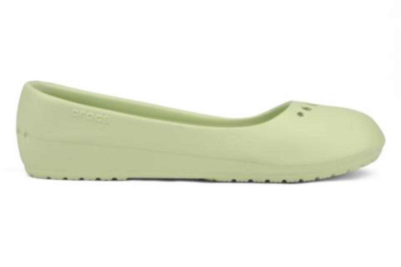 Ballerinas Crocs Prima grün ansicht von hinten