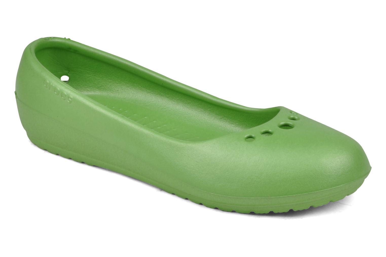 Ballet pumps Crocs Prima Green detailed view/ Pair view