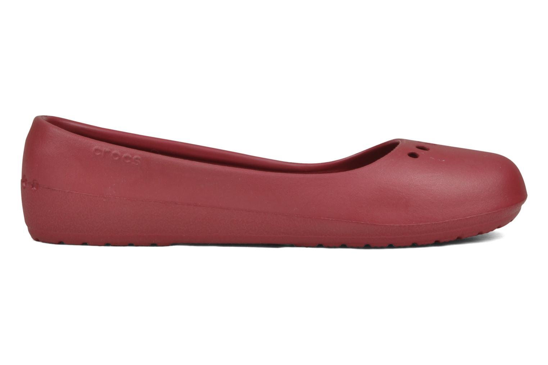 Ballerina's Crocs Prima Rood achterkant