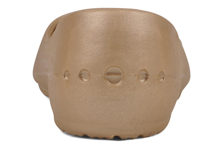 Ballerines Crocs Prima Or et bronze vue droite