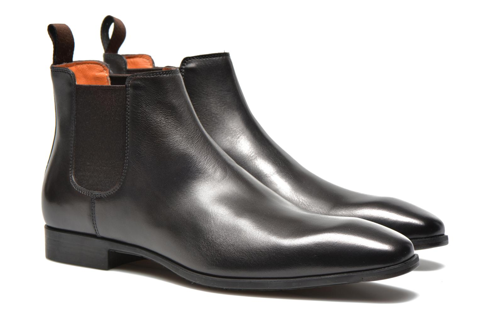 Ankle boots Santoni Marlone 9291 Brown 3/4 view