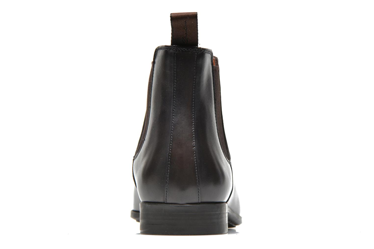 Ankle boots Santoni Marlone 9291 Brown view from the right