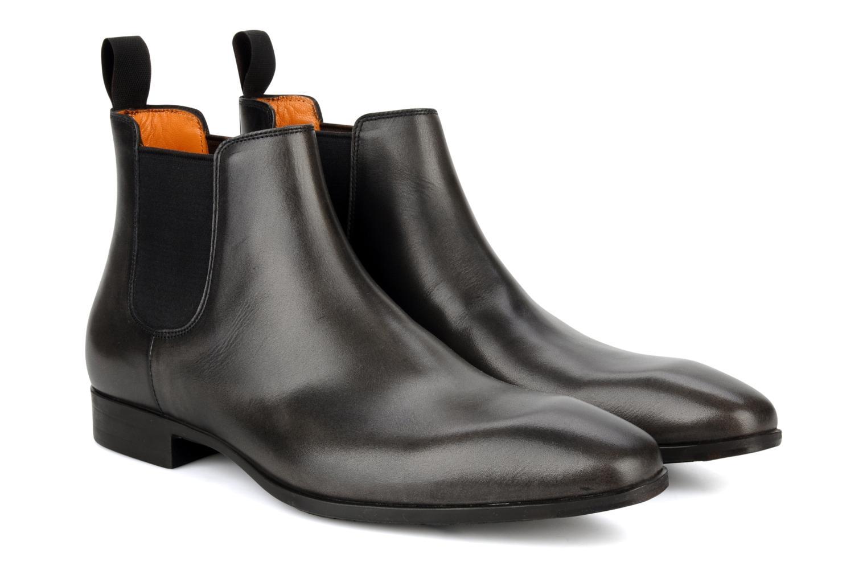 Bottines et boots Santoni Marlone 9291 Gris vue 3/4