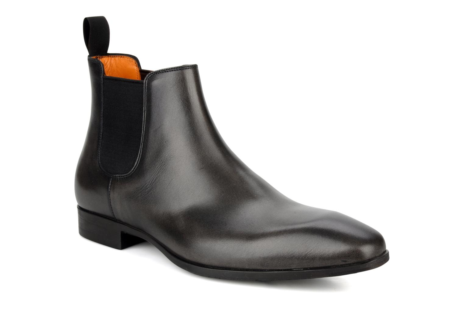 Ankle boots Santoni Marlone 9291 Grey detailed view/ Pair view