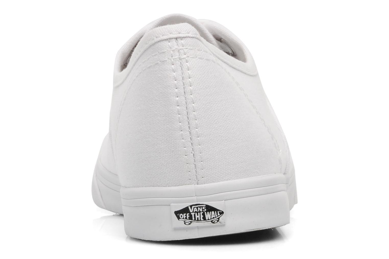 Baskets Vans Authentic Lo Pro W Blanc vue droite